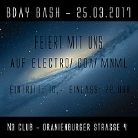 Party flyer: Friends of Tomorrowland Berlin DOuble B-day Bash 25 Mar '17, 22:00