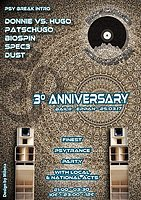 Party flyer: Patschugo 3rd anniversary 25 Mar '17, 21:00