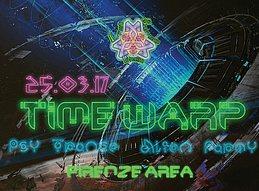 Party flyer: TIME. ҉҉ .WARP #02 - PsyTrance Alien Party FIRENZE 25 Mar '17, 22:00