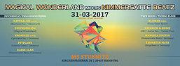 Party flyer: MAGICAL WONDERLAND MEETS NIMMERSATTE BEATZ 31 Mar '17, 23:00