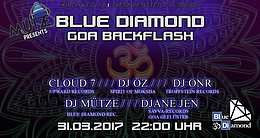Party flyer: Mütze pres. Blue Diamond GOA Backflash 31 Mar '17, 22:00