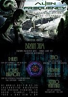 Party flyer: ॐ Alien Frequency ॐ - ►► Out of Control 3 Years Celebration ◄◄ guest BRAIN JAM 1 Apr '17, 23:30