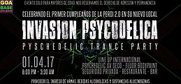 Party flyer: Invasión Psycodélica 1 Apr '17, 21:00