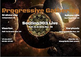 Party flyer: Progressive Gathering w/ Section303 Live UK 7 Apr '17, 23:00