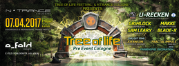 Party flyer: Tree of Life Festival - Pre Event Cologne 7 Apr '17, 23:00