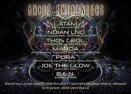 Party flyer: Axios Encounters 8 Apr '17, 21:00