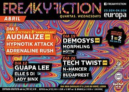 Party flyer: FREAKY FICTION 12 Apr '17, 23:00