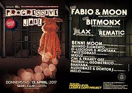 Party flyer: Progressive Jail Eastern Edition w/ Fabio&Moon, Bitmonx, uvm. 13 Apr '17, 21:00