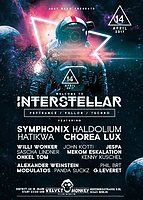 Party flyer: Interstellar w/ Symphonix,Haldolium,Hatikwa ,Chorea Lux 14 Apr '17, 23:00
