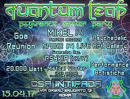 Party flyer: QuAnTuM•LeAp • PsY EaStEr PaRtY • GOA Reunion • BIG STAGE @intifada • 15 Apr '17, 22:00