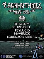 Party flyer: Psyrhythmix - April 2017 21 Apr '17, 23:00
