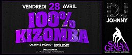Party flyer: 100% Kizomba 28 Apr '17, 22:00