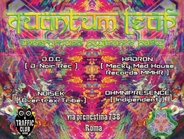 Party flyer: QuAnTuM•LeAp • Psy Trance Party • ROMA 28 Apr '17, 22:30