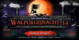 Party flyer: WALPURGISNACHT 14. S.U.N. Project, Class A, Katharsis, Ghost Rider, Zr0.Brox uvm 30 Apr '17, 22:00