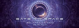 Party flyer: GATE to SPACE 5 May '17, 22:00