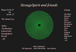 Party flyer: StrangeSpirit and Friends Bday Celebration 2 Jun '17, 22:00