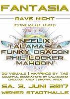 Party flyer: FANTASIA RAVE NIGHT with NEELIX   TALAMASCA   FUNKY DRAGON 3 Jun '17, 23:00