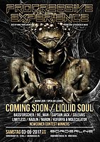 Party flyer: Progressive Experience with Coming Soon / Liquid Soul 3 Jun '17, 23:00