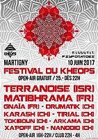 Party flyer: Festival du Khéops 10 Jun '17, 16:00