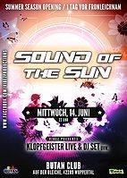 Party flyer: Sound of the Sun / Summer Season Opening / Goa / Techno 5 Areas 14 Jun '17, 22:00