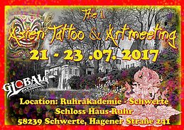 Party flyer: The 1. Asien Tattoo & Art meeting in Germany 21 Jul '17, 15:00