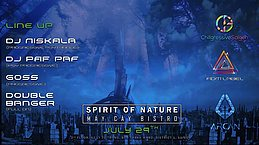 Party flyer: Spirit Of Nature / DJ Niskala 29 Jul '17, 20:00