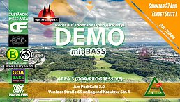 Party flyer: GOA-Demo für spontane Open Air Partys 2017 27 Aug '17, 12:30