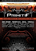 Party flyer: Primitif Festival 2017 7 Sep '17, 12:00