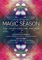 Party flyer: Magic Season with TOGE (Hun) & friends 13 Oct '17, 21:00