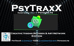 Party flyer: PsyTraxX (Radio Show) - Creative Visions Records & Art:Network 28 Oct '17, 20:00