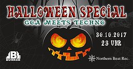Party flyer: Halloween Special - Goa meets Techno - Goazilla Birthday Bash 30 Oct '17, 23:00