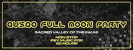 Party flyer: QUSQO FULL MOON PARTY 4 Nov '17, 13:00