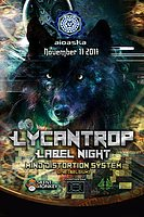 Party flyer: Aioaska Prods pressents: Lycantrop Records Label Night 17 Nov '17, 22:00