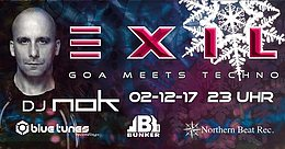Party flyer: Exil - Goa meets Techno - NOK 2 Dec '17, 23:00