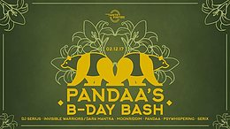 Party flyer: Pandaa`s B-Day Bash 2. Dez 17, 21:30