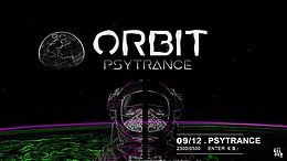 Party flyer: ORBIT 9 Dec '17, 23:00