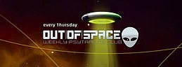 Party flyer: OUT of SPACE zero gravity special 21 Dec '17, 22:00