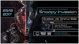 Party flyer: Snoopy Invasion 23 Dec '17, 22:00