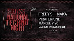 Party flyer: Swiss National Techno Night 30. Dez 17, 23:00