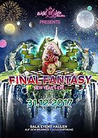 Party flyer: Final Fantasy w/ Outsiders, Day.Din, Hujaboy & Mimesis Deco 31. Dez 17, 20:00