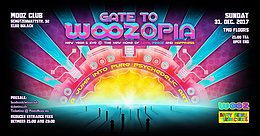 Party flyer: Gate to WOOZopia - New Year's Eve 31 Dec '17, 21:00
