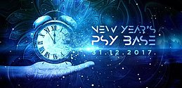 Party flyer: New YEARS PSY BASE 31 Dec '17, 22:00