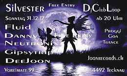 Party flyer: Silvester Goa Party 31 Dec '17, 20:00