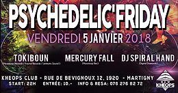 Party flyer: Psychedelic'Friday 5 Jan '18, 22:00