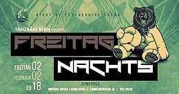 Party flyer: Freitag Nachts mit Dj. Martin 2. Feb 18, 22:00