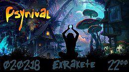 Party flyer: PsyNival - Goa Season Start 2 Feb '18, 22:00