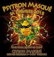 Party flyer: Psytron masqué 3. Feb 18, 20:30