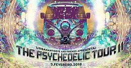 Party flyer: Urban Antidote and Friends Apresenta: The Psychedelic Tour II 3 Feb '18, 23:59