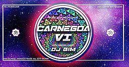 Party flyer: CarneGoa #6 /w BIM 10. Feb 18, 22:00