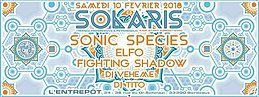 Party flyer: Solaris :: Sonic Species/ Elfo/ Veheme/ Fighting Shadow/ Tito 10 Feb '18, 23:30